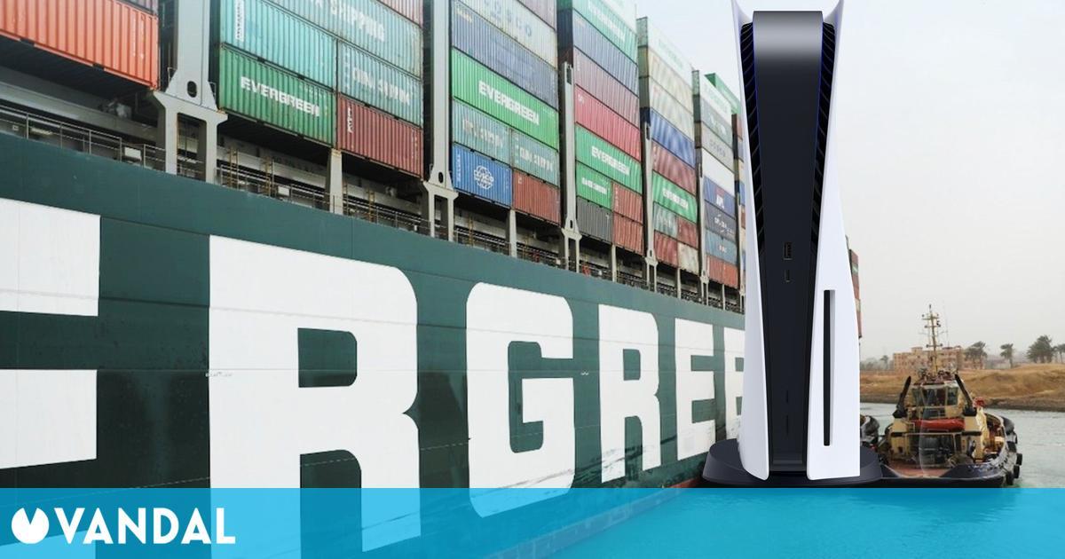 El stock de PS5 podría haberse visto afectado por el buque encallado en el canal de Suez