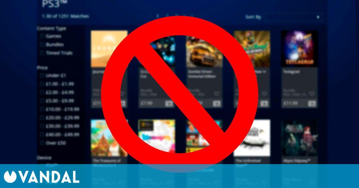 Sony elimina la antigua web de PS Store, utilizada para comprar juegos de PS3, Vita y PSP