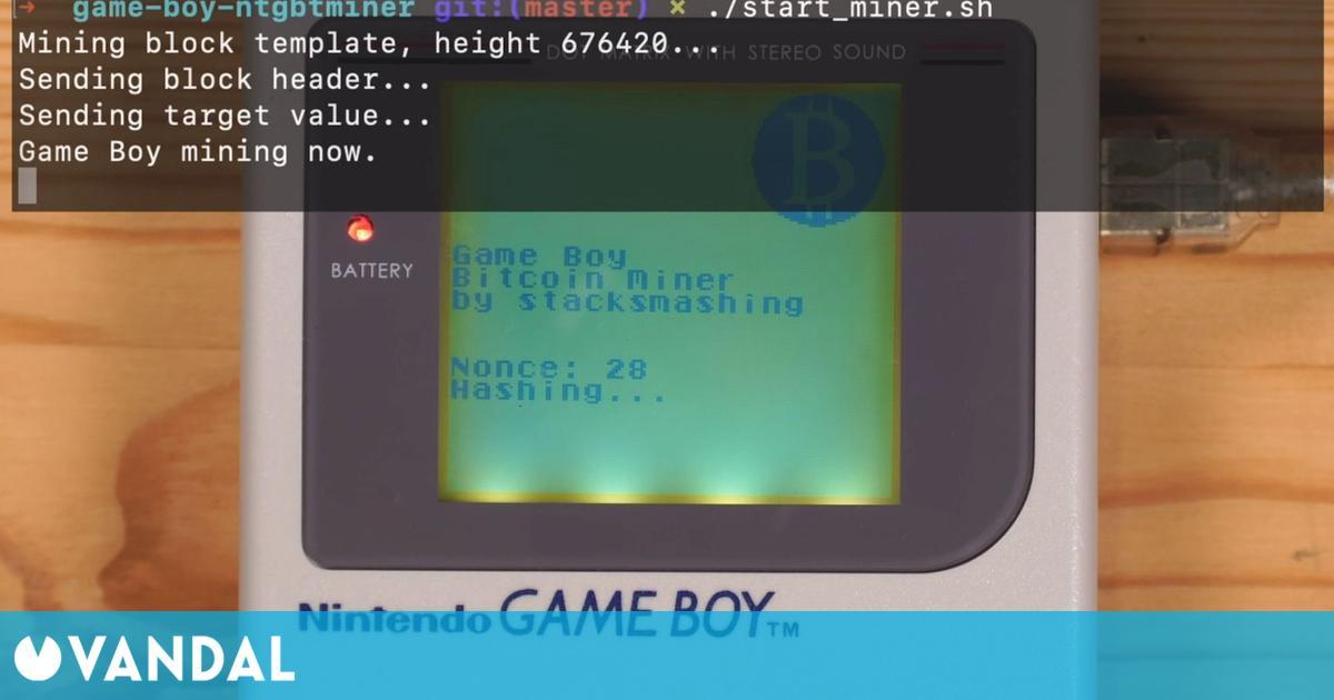 Un modder logra que la Game Boy original sea capaz de minar Bitcoin
