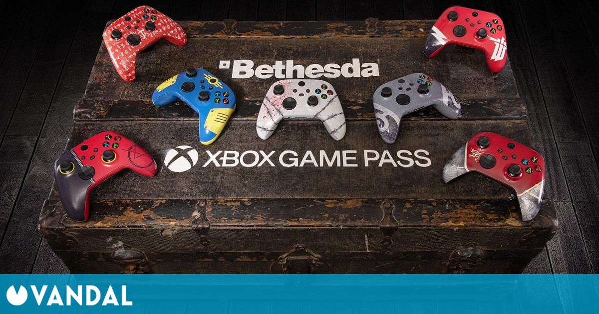 Microsoft sortea 7 mandos de Xbox Series X/S con diseños de juegos de Bethesda