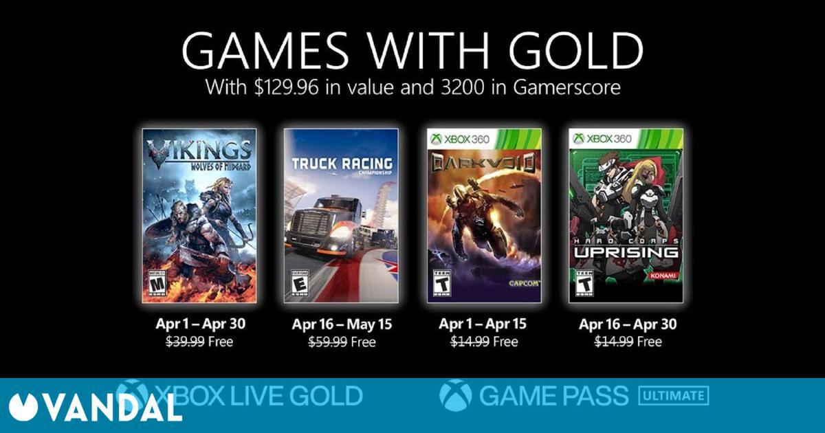 Anunciados los Juegos con Gold para abril de 2021