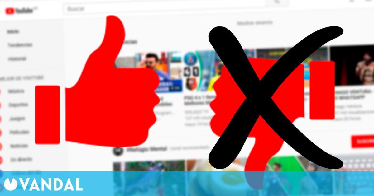YouTube prueba un diseño que oculta la cantidad de 'no me gusta' en ciertos vídeos