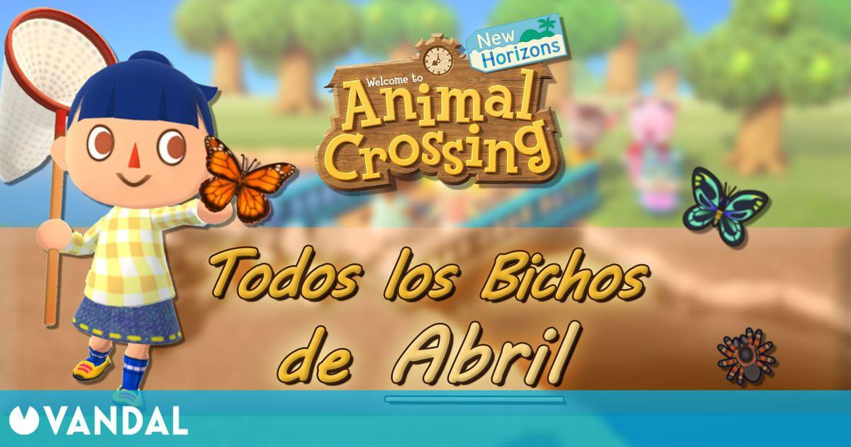 Animal Crossing New Horizons: todos los Bichos disponibles en abril 2021