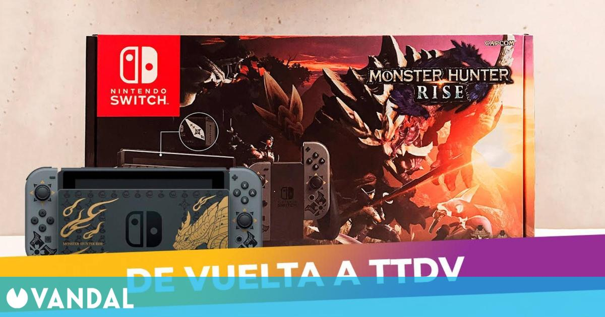 La Nintendo Switch edición limitada de Monster Hunter Rise vuelve a estar disponible en TTDV