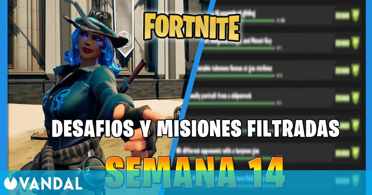 Fortnite: misiones y desafíos filtrados de la Semana 14 y recompensas