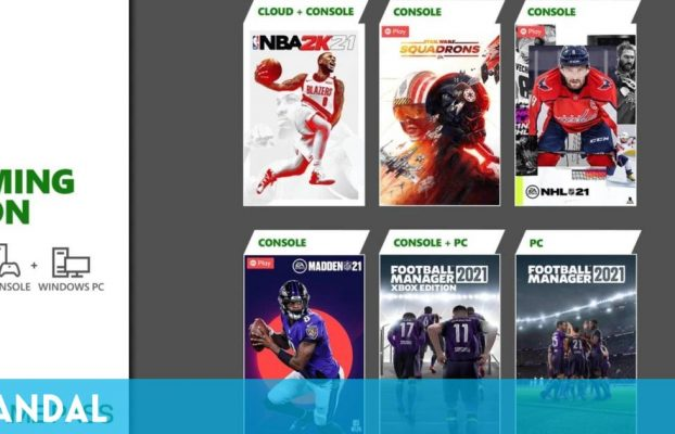 Xbox Game Pass recibe en marzo NBA 2K21, Football Manager 2021, Star Wars: Squadrons y más