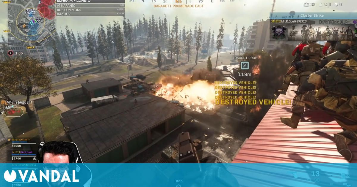 CoD Warzone: Un streamer y 149 seguidores consiguen tirar el servidor con una explosión