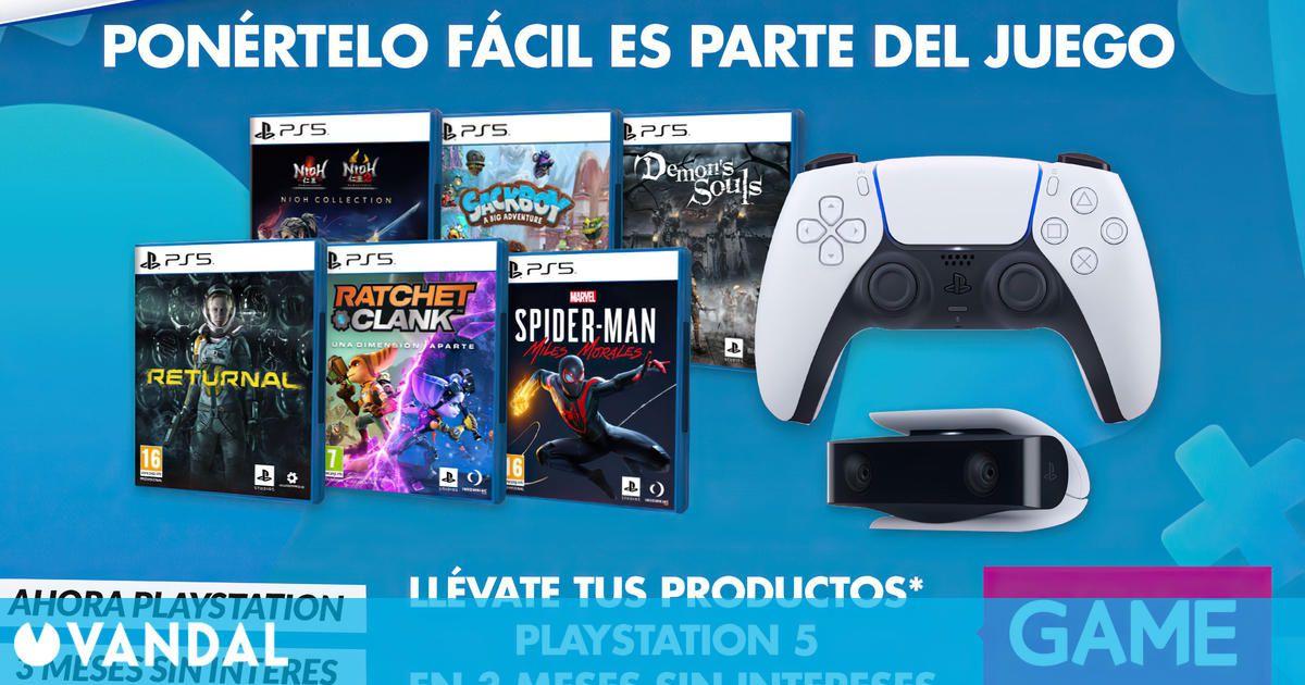 GAME ofrece juegos y productos de PS5 en tres meses sin intereses por tiempo limitado