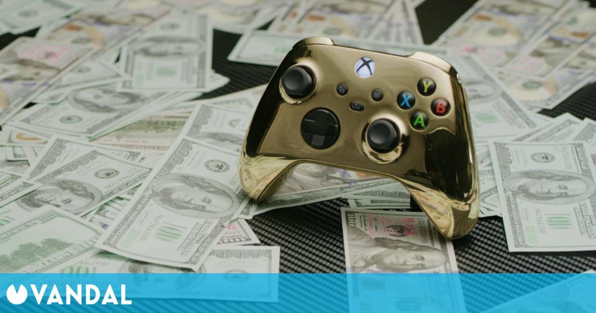 Fabrican el mando de Xbox más caro del mundo con 1,5 kilos de oro de 18 quilates