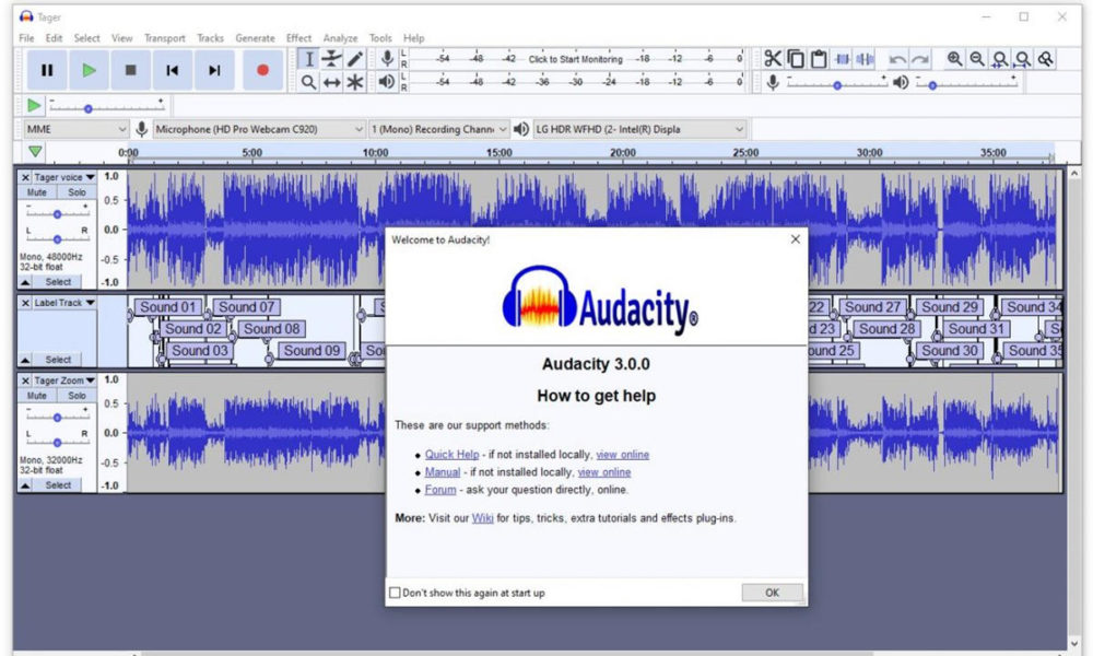 fantástico editor de audio abierto y gratuito
