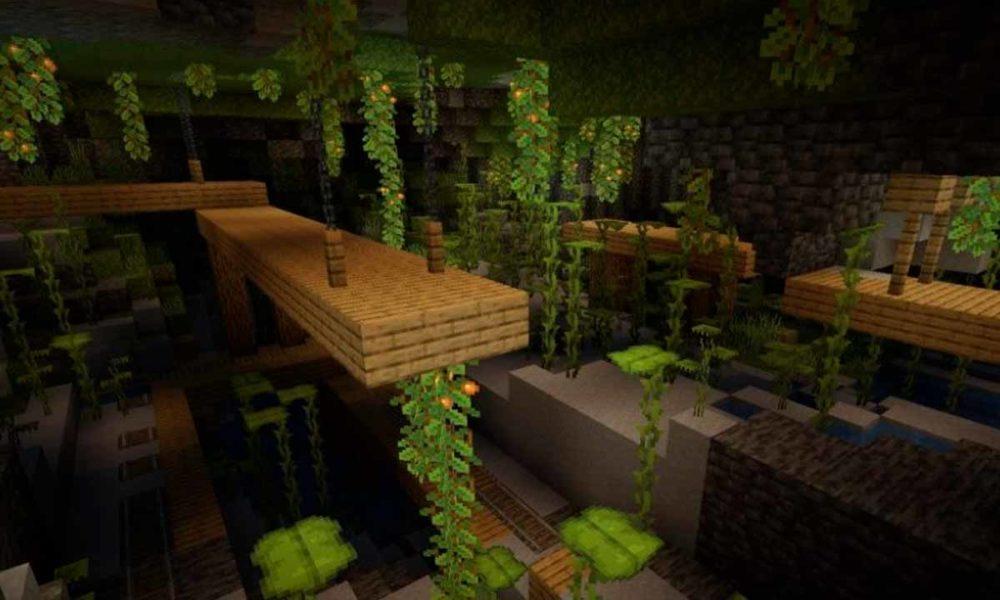 ya puedes explorar las Lush Caves