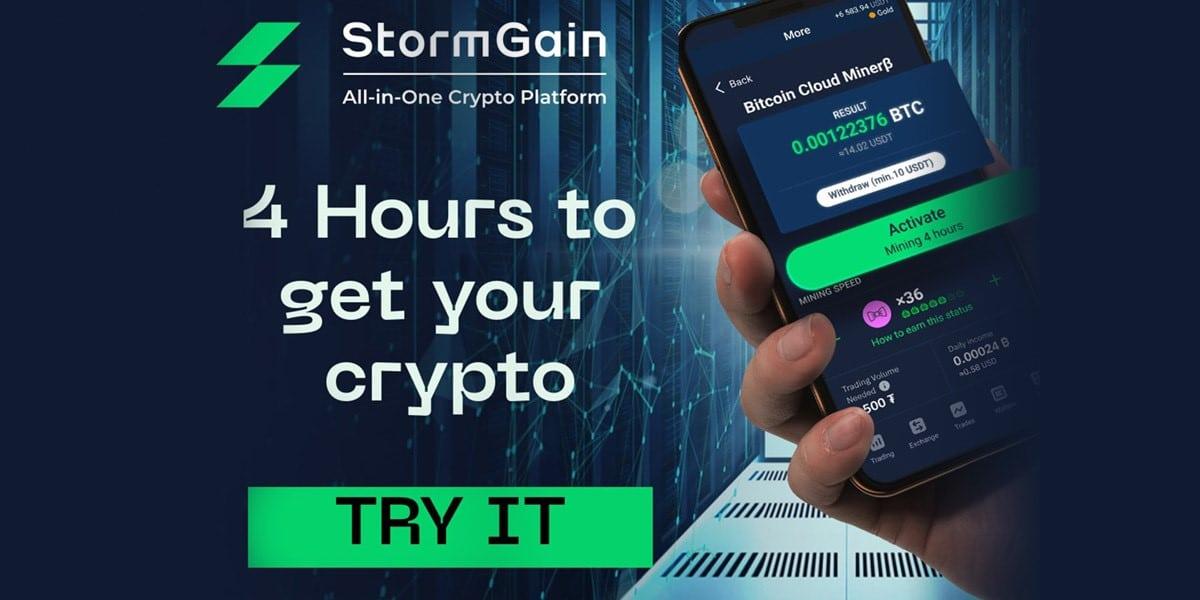 StormGain presenta lucrativo minero de nube con cuenta de trading integrada