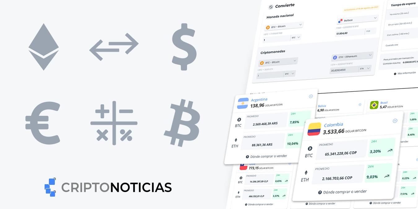 Precios de bitcoin y ethereum en moneda nacional
