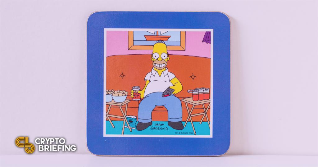 El raro Homer Simpson Pepe NFT se vende por $ 320,000
