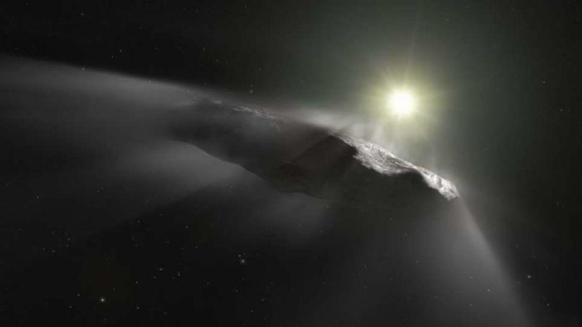 Este era el aspecto de Oumuamua antes de entrar al Sistema Solar