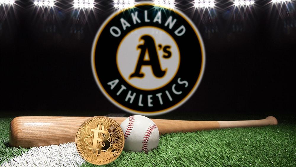 Oakland Athletics de las Grandes Ligas de Béisbol acepta 1 bitcoin por suite de temporada