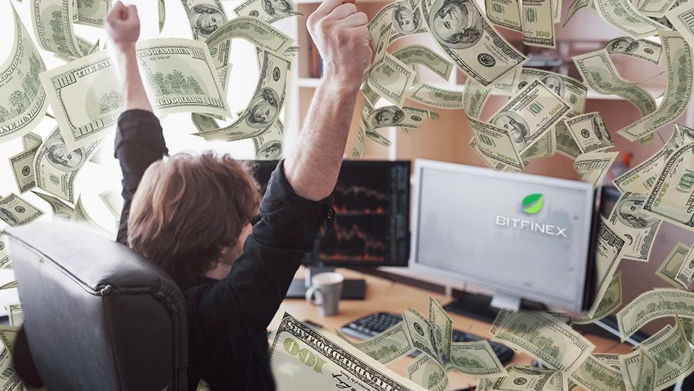 Trader de Bitfinex ganó más de 200 millones de dólares en cinco meses