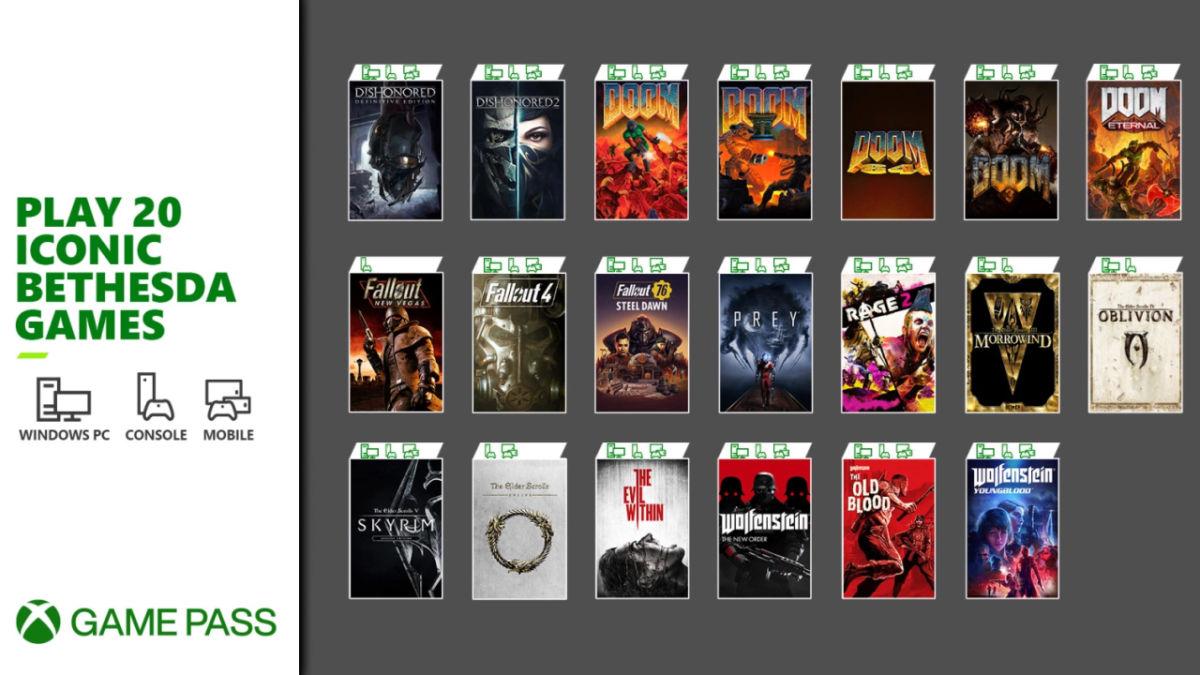 Los 12 juegos que llegan a Xbox Game Pass tras la compra de Bethesda