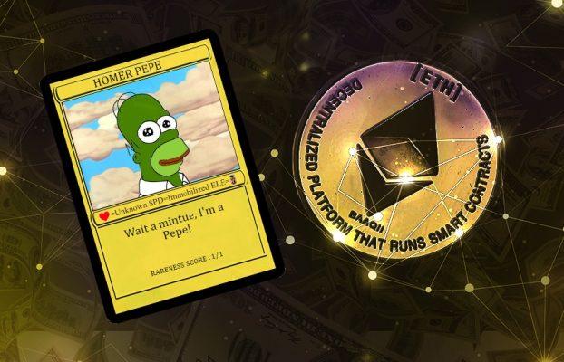 """NFT de """"Homero Simpson Pepe"""" desarrollado en Bitcoin se vendió por USD 320.000"""