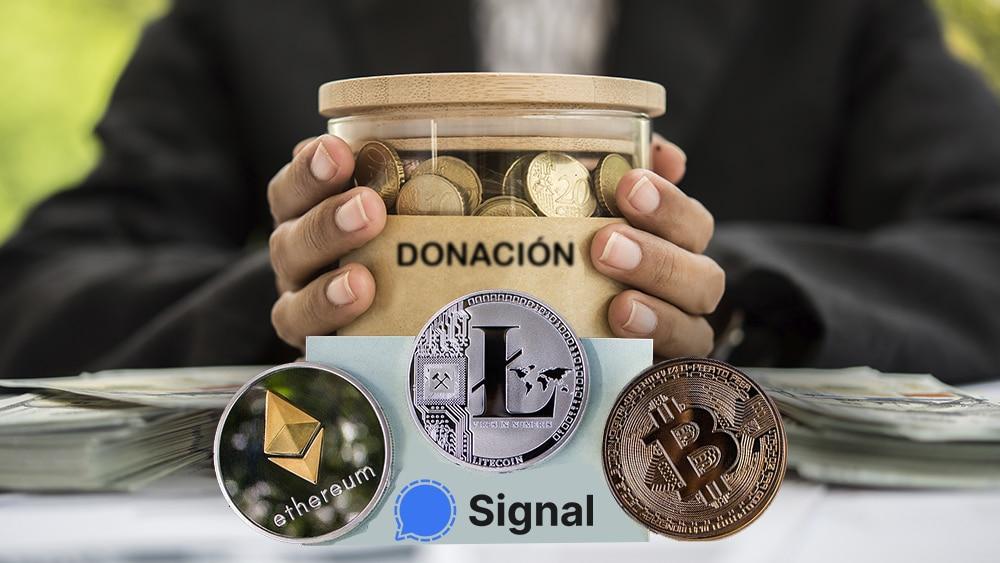 Signal comienza a aceptar donaciones en bitcoin y otras criptomonedas