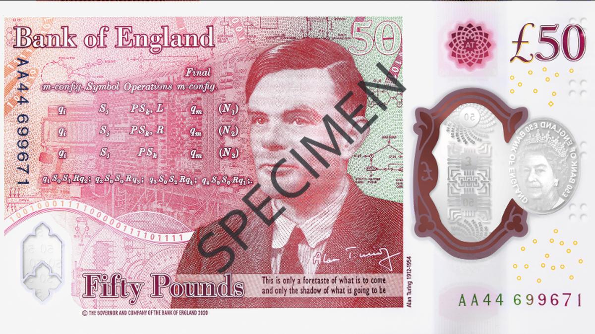 El nuevo billete de 50 libras tiene 12 acertijos