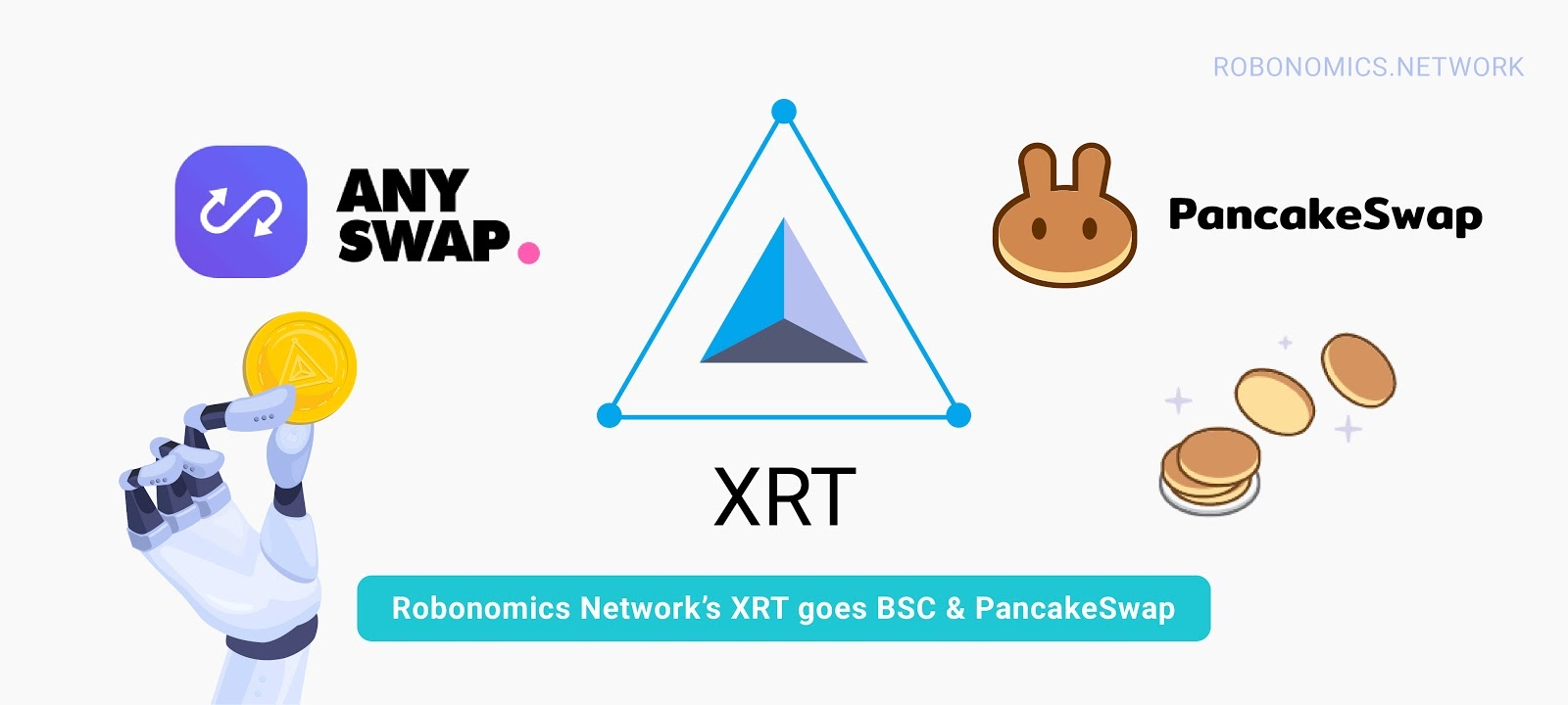 XRT pasa a BSC y PancakeSwap