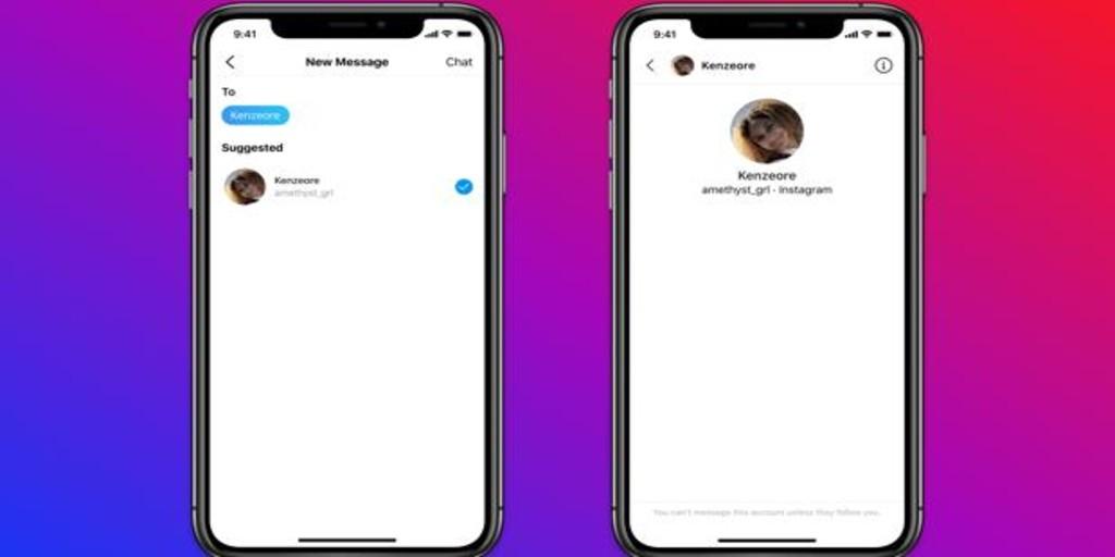 Instagram impedirá que un adulto pueda enviarle mensajes a un menor de 18 años