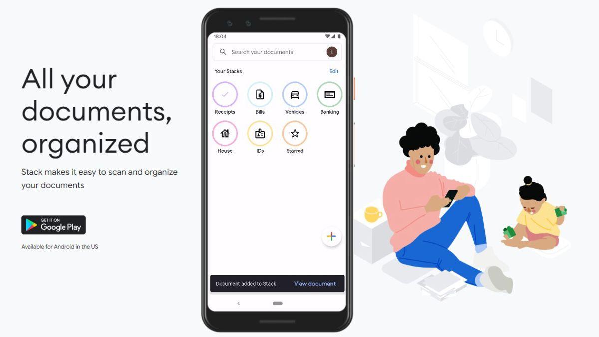 Google Stack, una nueva app para escanear documentos