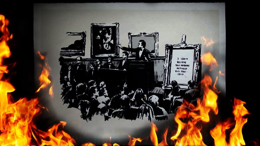 Compran obra de Banksy, la queman y la venden como NFT en la blockchain de Ethereum