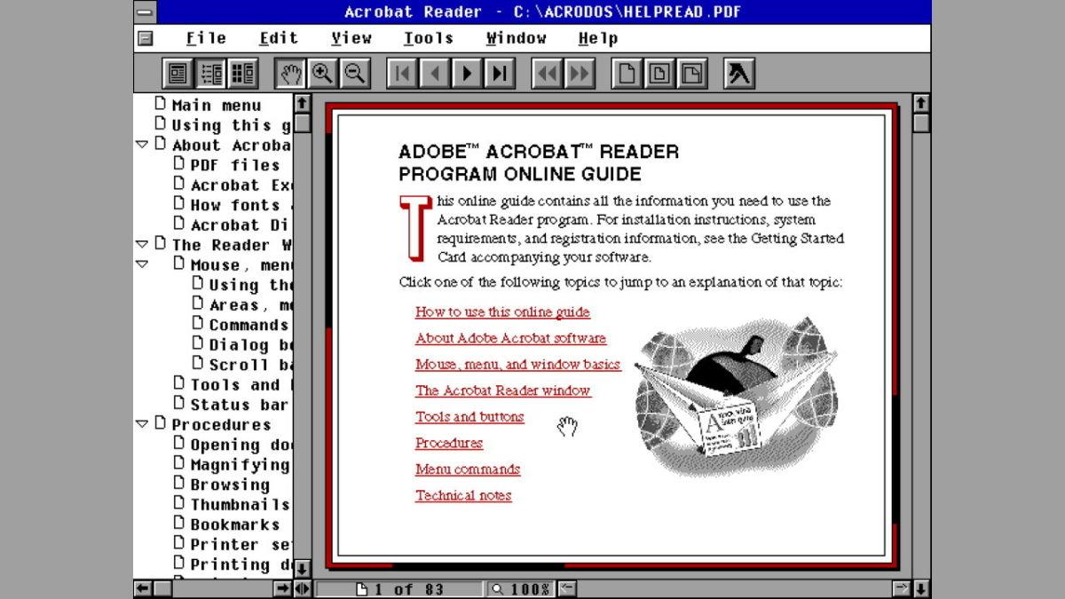 Adobe persigue copias piratas de Acrobat Reader de hace 27 años