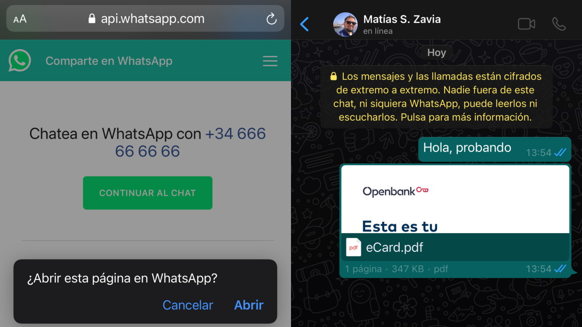 Cómo mandarte mensajes a ti mismo por WhatsApp sin crear ningún grupo