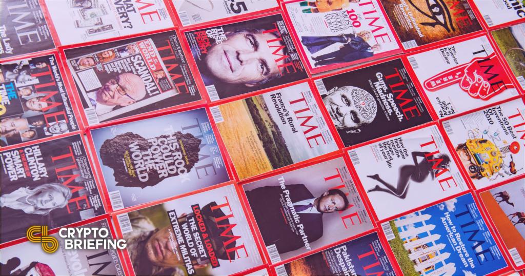 Subastas de la revista TIME «¿Dios ha muerto?»  Portada en la colección NFT