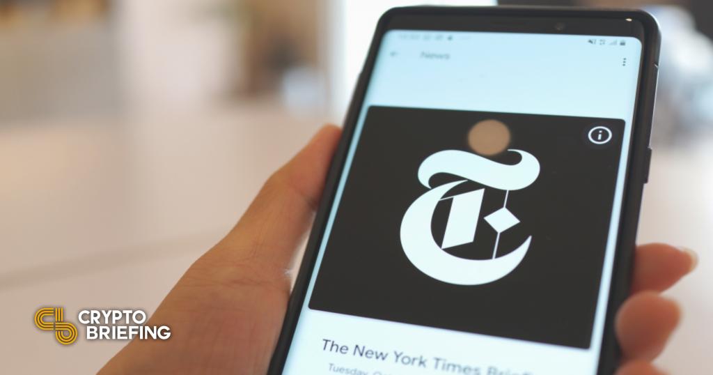 El escritor del New York Times convierte la última columna en NFT