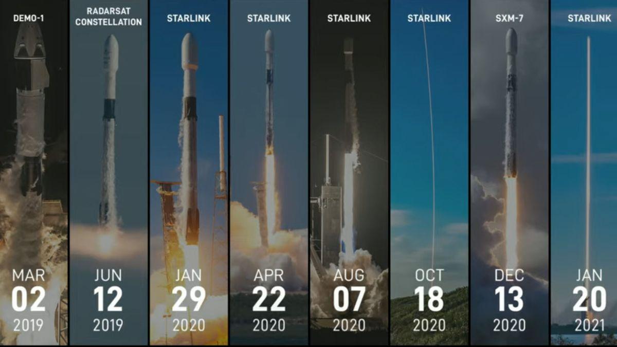 aterrizar diez veces un mismo cohete