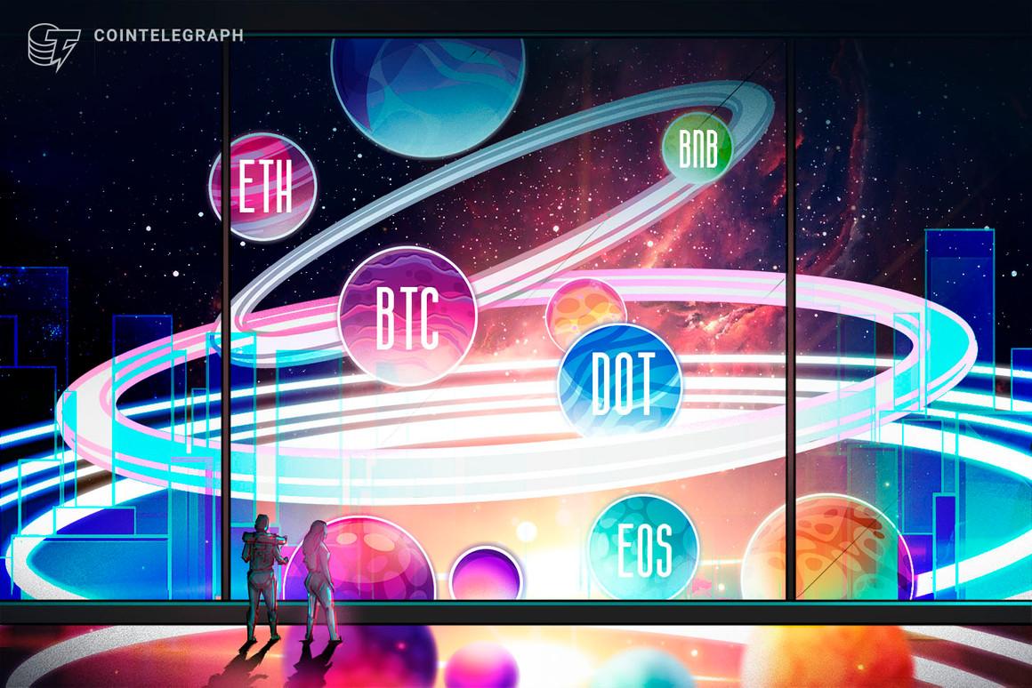 Las 5 principales criptomonedas a observar esta semana: BTC, ETH, BNB, DOT, EOS