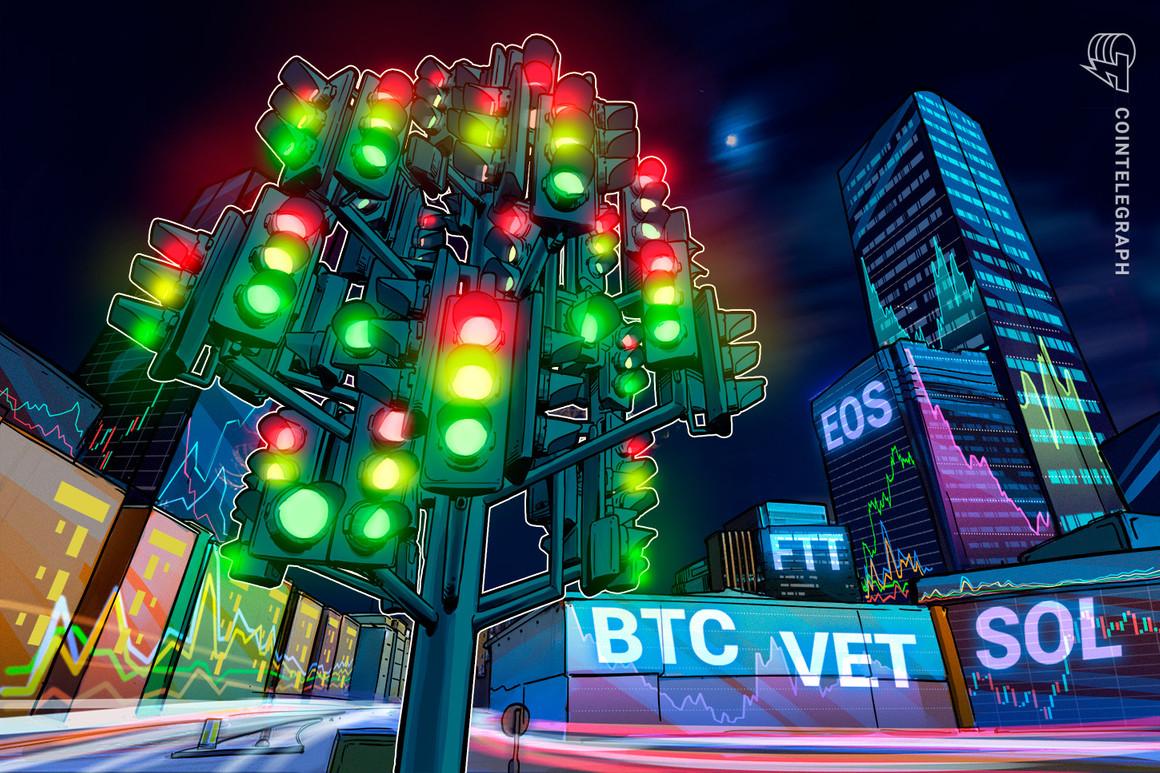 Las 5 principales criptomonedas a observar esta semana: BTC, VET, SOL, EOS, FTT