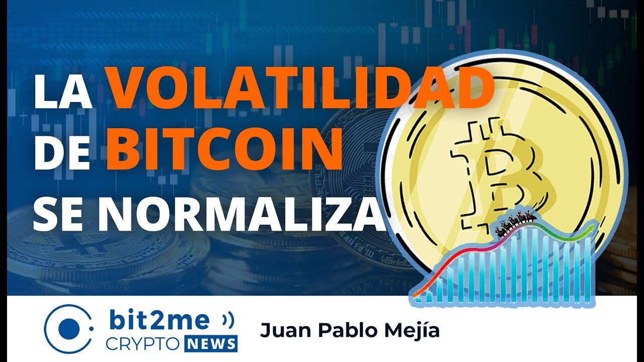 🔵📊 La VOLATILIDAD de BITCOIN se Normaliza – Bit2Me Crypto News