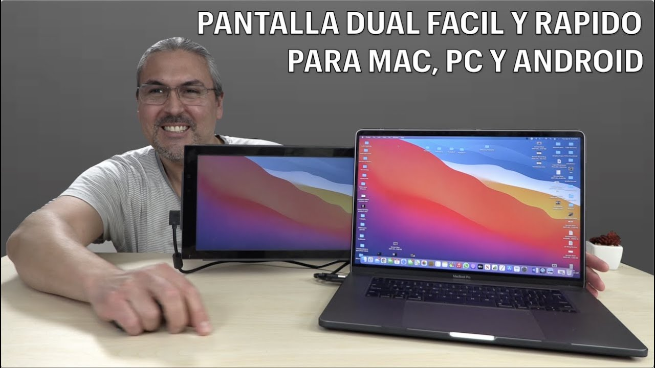 Monitor dual para Laptops Trio Mobile Pixels