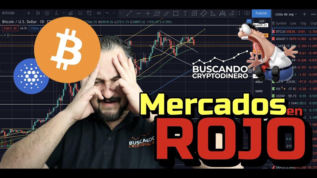 🔴 Mercados en ROJO    Se acabo?? + Bitcoin y 22 Altcoins + Rifa !! #miedo #crypto #ada