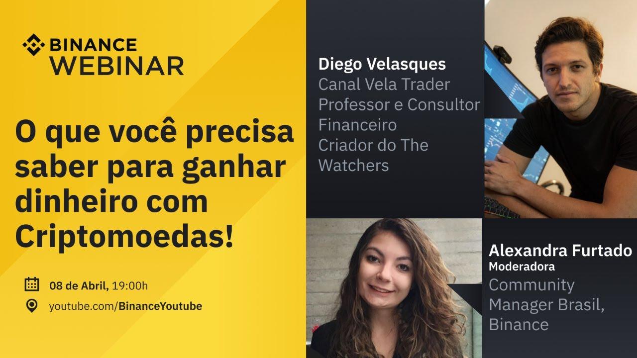 O que você precisa saber para ganhar dinheiro com Criptomoedas! – Binance Webinar em Português