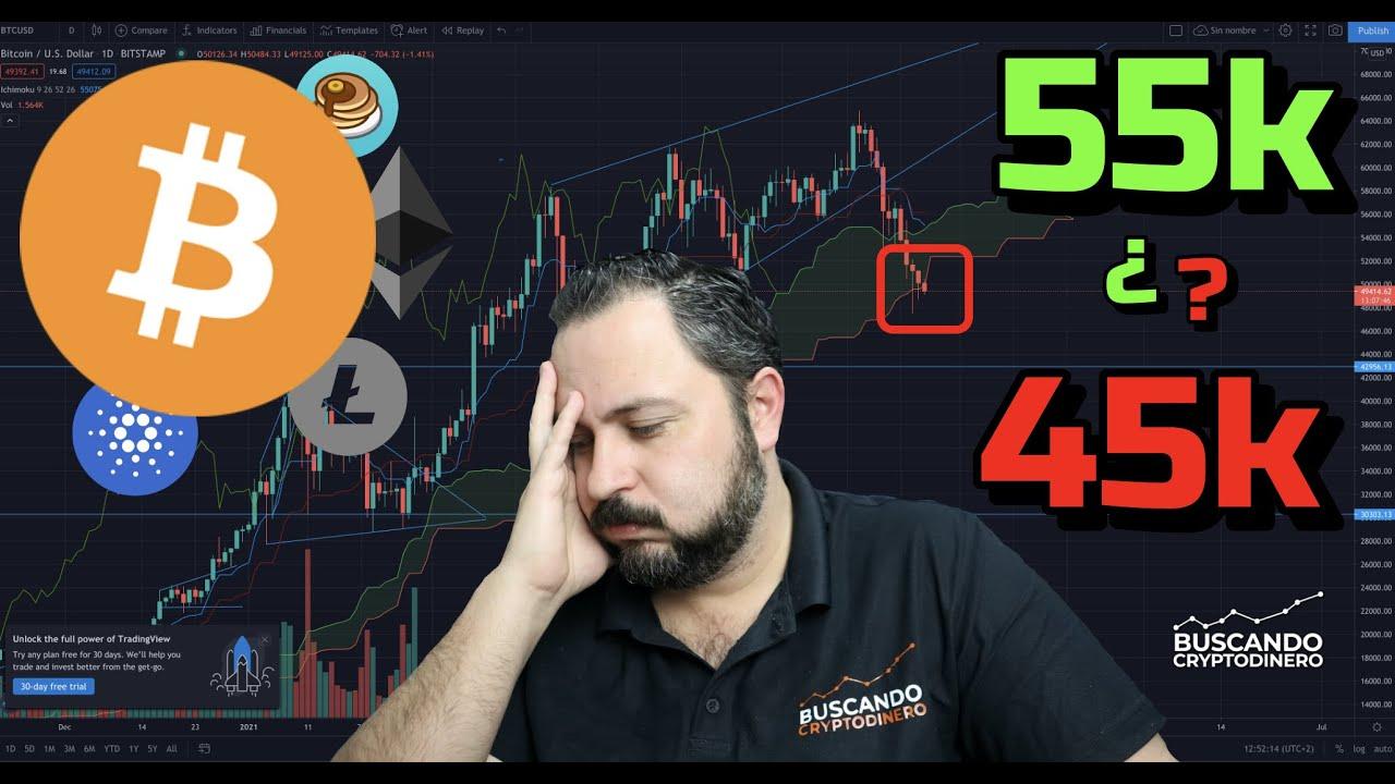 Bitcoin… hacia los 55k o 45k ¿? + 5 monedas y Rifa de Litecoin !!!