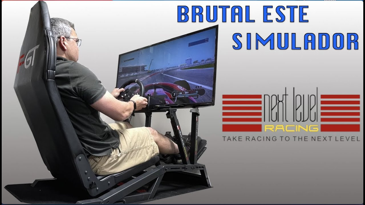 BRUTAL, otro nivel de Juego con el simulador Next Level Racing F-GT
