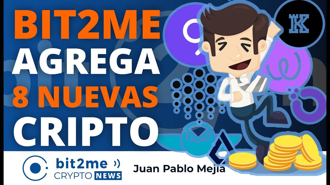 🔵 🥳 BIT2ME agrega 8 NUEVAS cripto – Bit2Me Crypto News