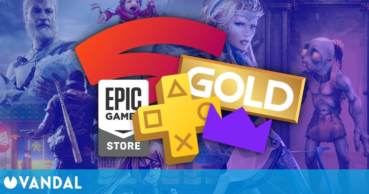 Juegos gratis de abril en PS Plus, Xbox Gold, Epic Games, Prime Gaming y Stadia Pro