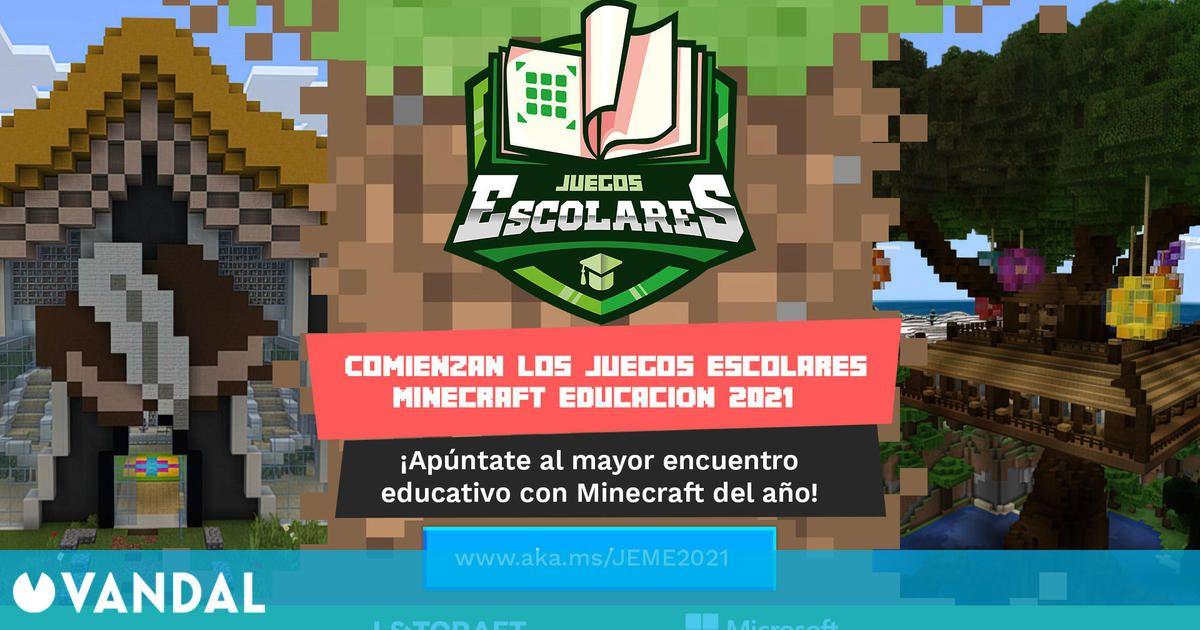 Los Juegos Escolares Minecraft Educación vuelven en una edición online
