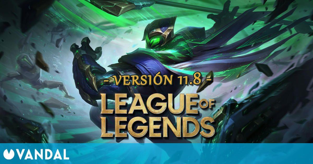League of Legends v11.8: Ajustes a campeones, cambios de objetos y novedades