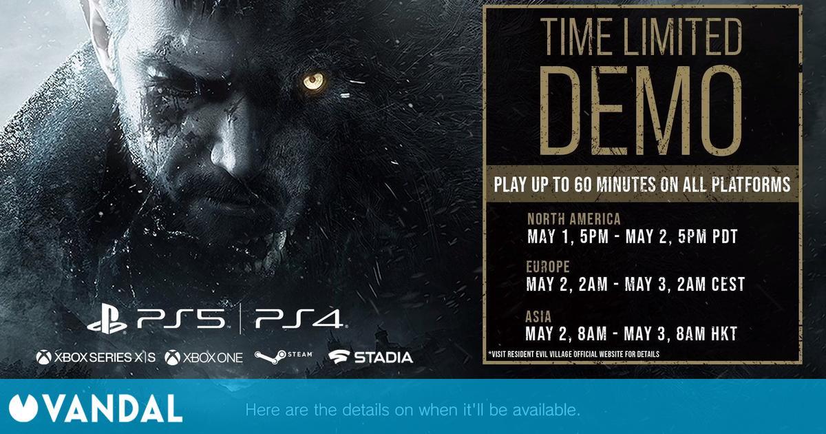 La demo de Resident Evil 8 estará disponible en todas las plataformas el 2 de mayo
