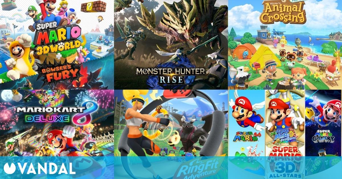 Los juegos de Switch monopolizan la lista de los más vendidos en España