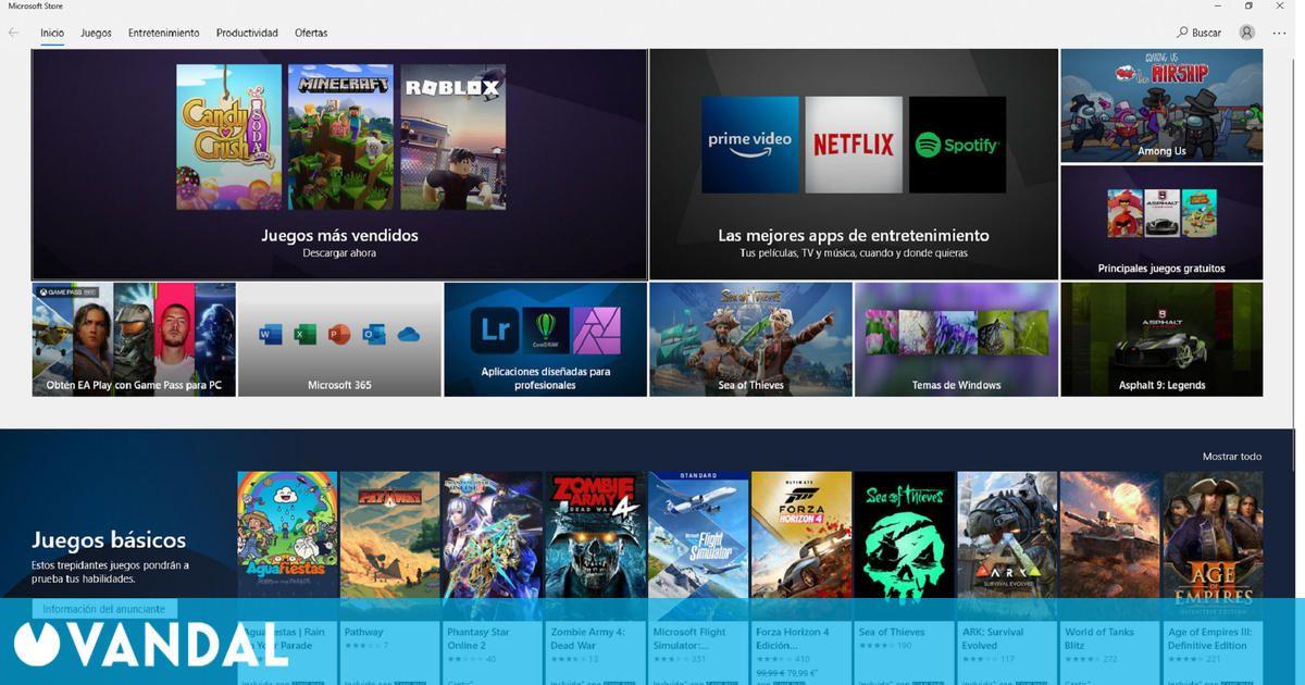 La Tienda Microsoft de Windows 10 se abriría a todos los juegos y aplicaciones