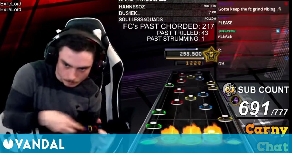 Consigue superar al 100% una canción imposible de Clone Hero